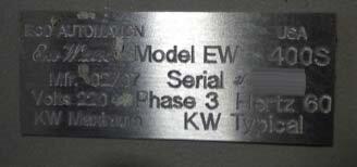 ECO AUTOMATION EW 400S