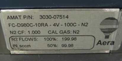Photo used AERA FC-D980C-10RA-4V-100C-N2 for sale