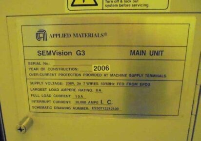 Photo used AMAT / APPLIED MATERIALS SemVision G3 for sale