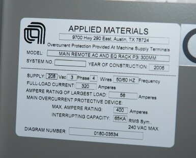 AMAT / APPLIED MATERIALS RF generator rack for P5000 used