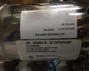 Photo 中古 CTI-CRYOGENICS IS-8F (On-Board) 販売用