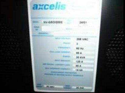 EATON NOVA / AXCELIS GSD 200 E2 used for sale price #9026352