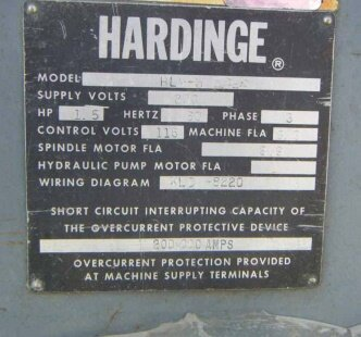 HARDINGE HLV-H used for sale price #9142118 > buy from CAE on