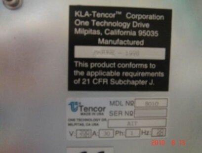 Photo 익숙한 KLA / TENCOR AIT 8010 판매용