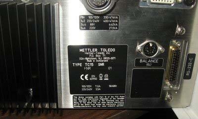 Photo used METTLER TOLEDO TC15 for sale