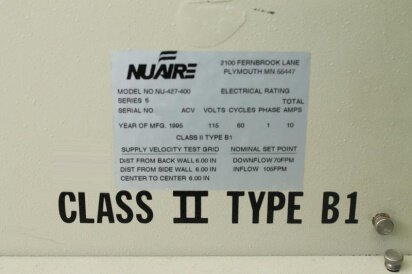 NUAIRE 427-400 used for sale price #9013576 > buy from CAE